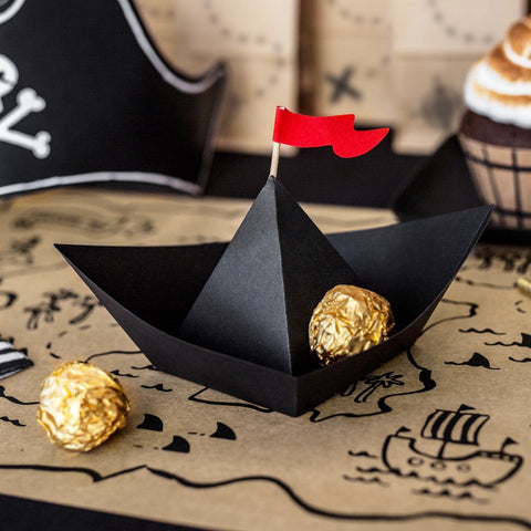 Pirates Paper Boat Table Decorations