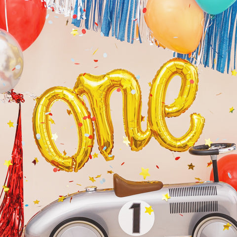 Gold One Foil Balloon