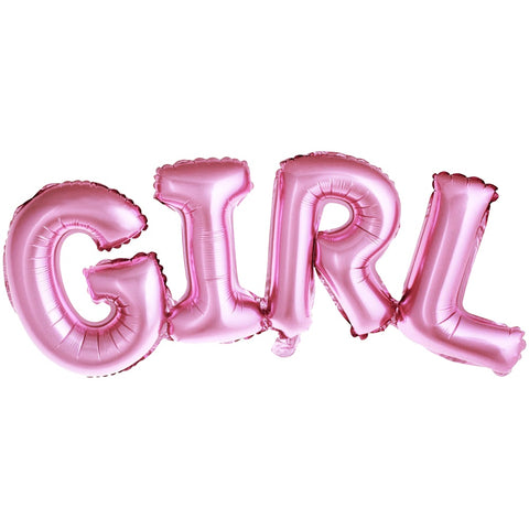 Pink Girl Letter Foil Balloon