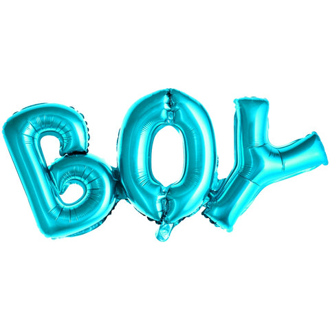 Blue Boy Letter Foil Balloon