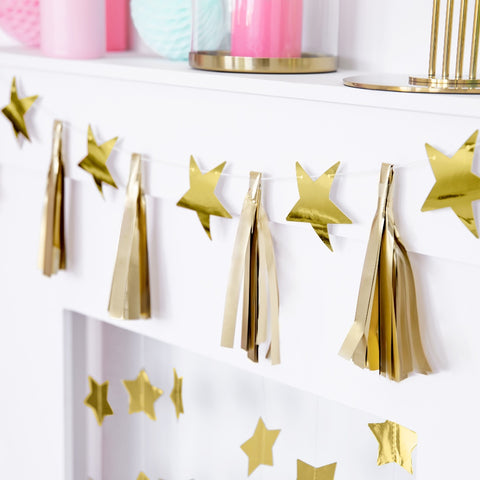 Gold Star & Tassel Garland