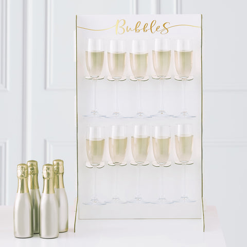 Gold Foiled Prosecco Wall Drinks Holder Stand