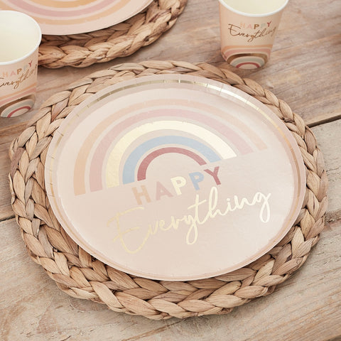 Happy Everything Natural Rainbow Plates