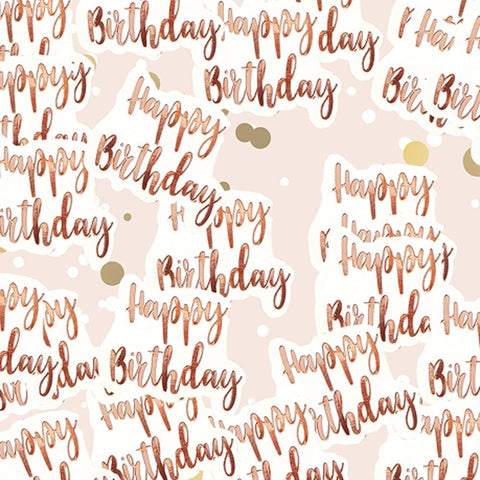 Rose Gold Happy Birthday Table Confetti