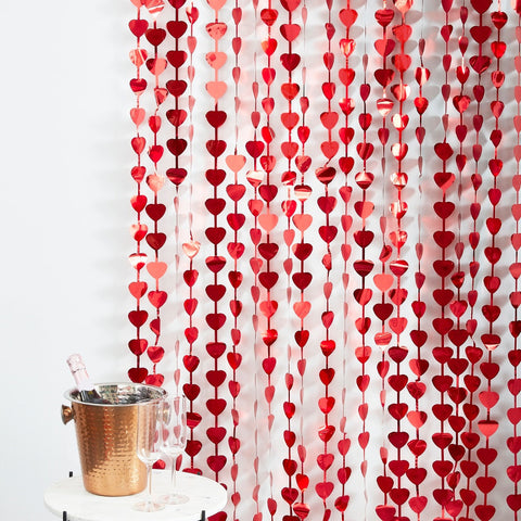 Heart Shaped Valentines Day Party Backdrop