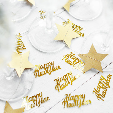 Gold Happy New Year Table Confetti