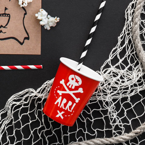 Red Pirates Party Cups