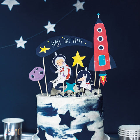 Space Party Cake Toppers