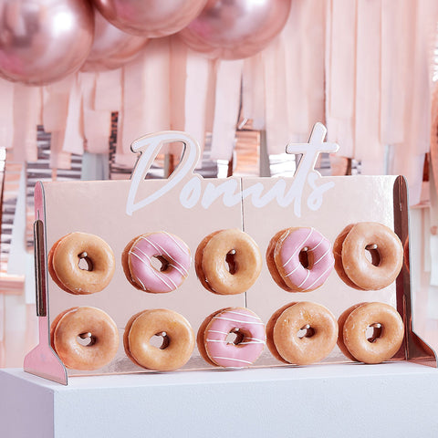 Rose Gold Foiled Donut Wall