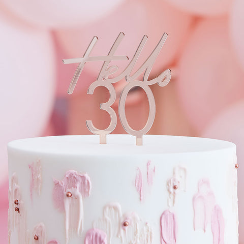 Hello 30 Birthday Cake Topper