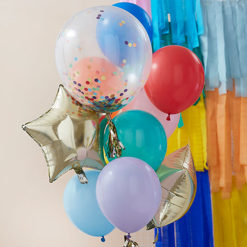 Rainbow Party Mixed Balloon Bundle