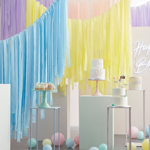 Pastel Streamer Ceiling Decoration