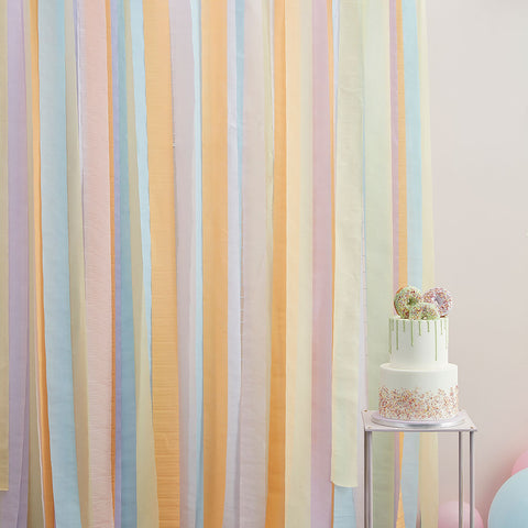 Pastel Streamer Party Backdrop