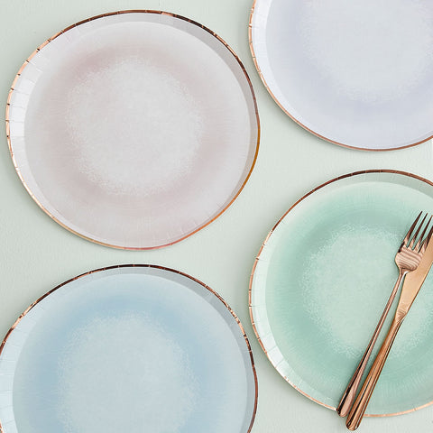 Mixed Pastel Watercolour Paper Plates