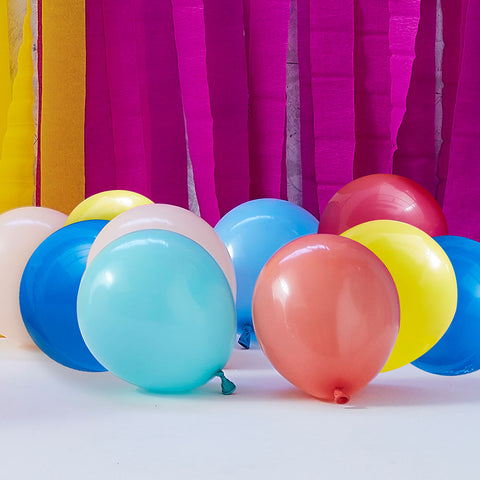 Mutilcoloured Rainbow Bright Balloon Bundle