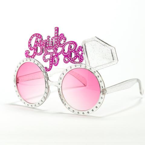 Pink & Silver Bride To Be Glasses
