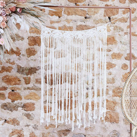 Macrame Wall Hanging Backdrop