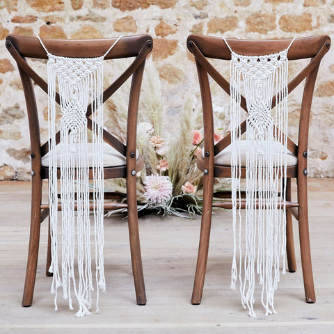 Macrame Wedding Chair Decorations