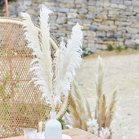 Bleached Pampas Grass Decorations