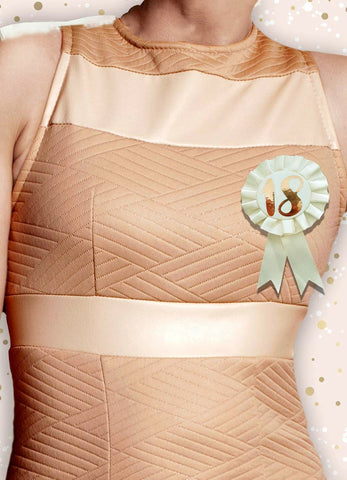 Cream & Rose Gold 18th Birthday Badge