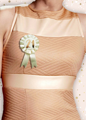 Cream & Rose Gold 21st Birthday Badge