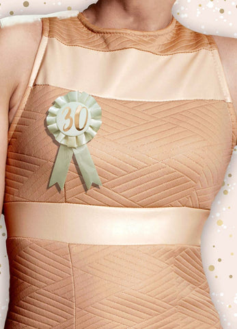 Cream & Rose Gold 30th Birthday Badge