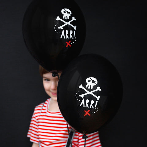 Black Pirates Party Balloons