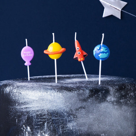 Space Party Birthday Candles