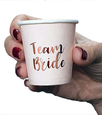 Rose Gold Team Bride Drinking Shot Cups