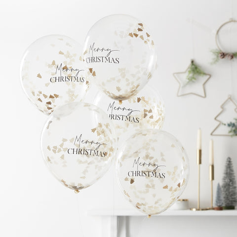 Merry Christmas Confetti Balloons