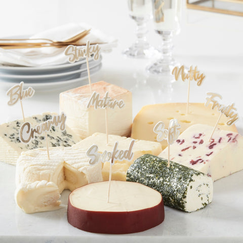 Gold Cheese Board Party Food Picks