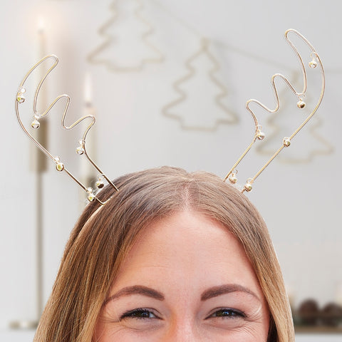 Reindeer Antlers Metal Christmas Party Headband