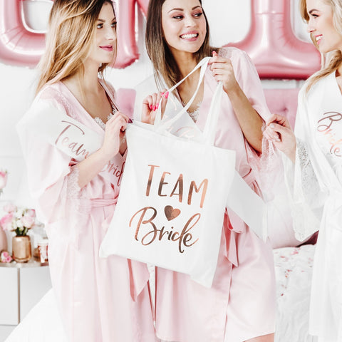 Rose Gold Team Bride Tote Bag