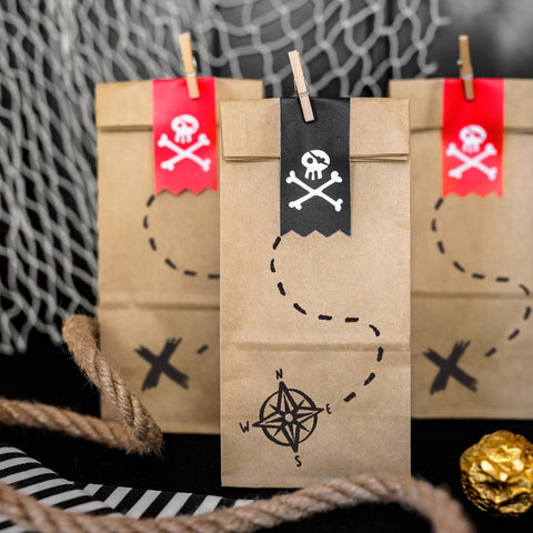 Pirates Party Kraft Treat Bags