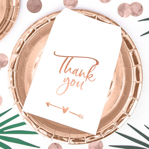 Rose Gold Foil Thank You Paper Treat Bags