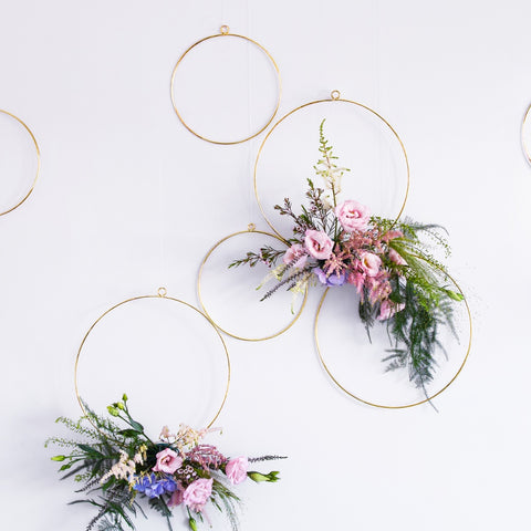 Metal Hanging Hoops Decorations