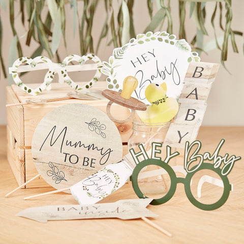 Botanical Baby Shower Photo Booth Props - Ginger Ray - Party Touches