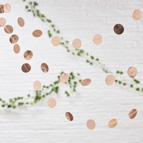 Rose Gold Circle Garland - Ginger Ray - Party Touches