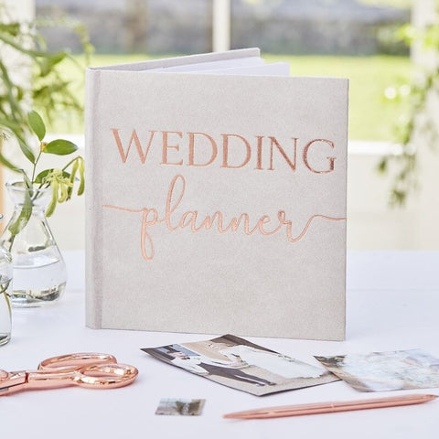 Grey Suede Luxury Wedding Planner - Ginger Ray - Party Touches