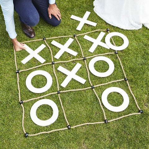 Wedding Garden Games Outdoor Noughts & Crosses - Ginger Ray - Party Touches