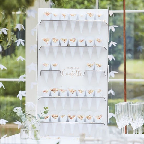 Wedding Confetti Cone Holder Stand & Cones - Ginger Ray - Party Touches