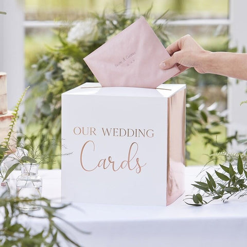Rose Gold Wedding Post Box - Ginger Ray - Party Touches