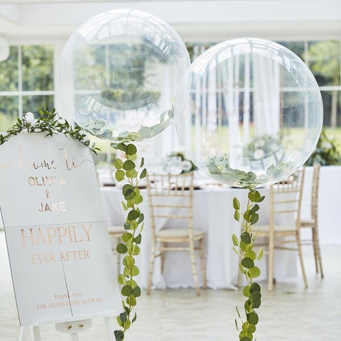 Orb Balloons With Vine Foliage - Ginger Ray - Party Touches
