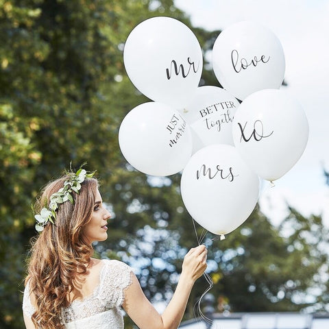 White Wedding Balloons Bundle - Ginger Ray - Party Touches