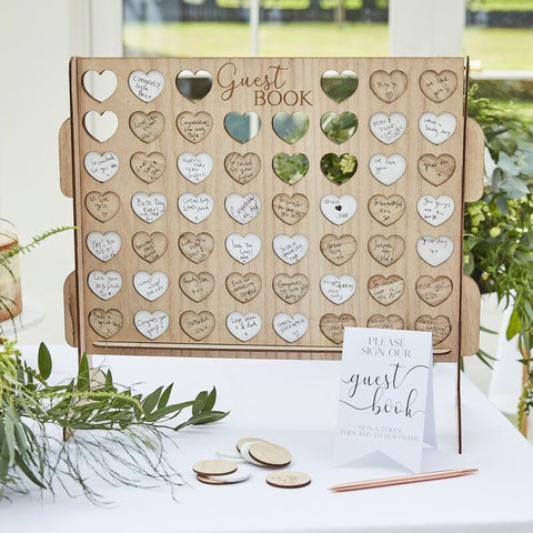 Four in a Row Wedding Guest Book Alternative - Ginger Ray - Party Touches
