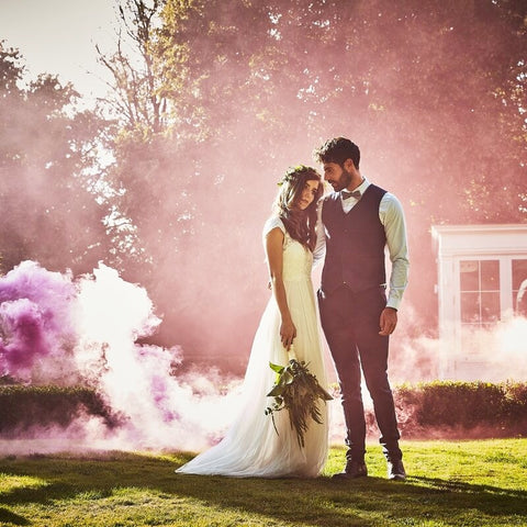 Pink Wedding Smoke Bomb - Ginger Ray - Party Touches