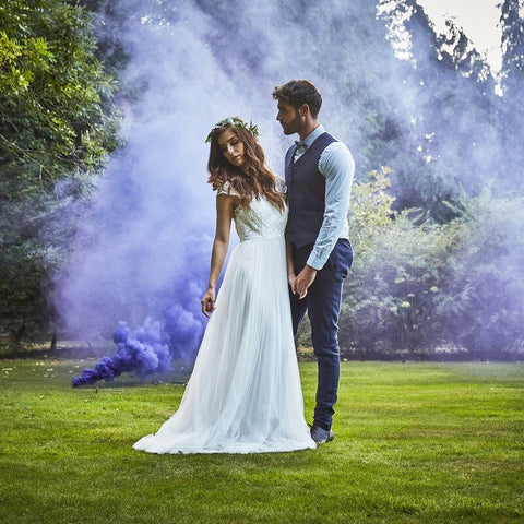 Purple Wedding Smoke Bomb - Ginger Ray - Party Touches