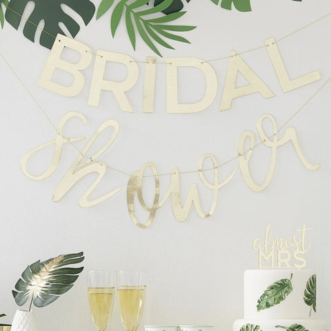 Gold Bridal Shower Banner - Ginger Ray - Party Touches