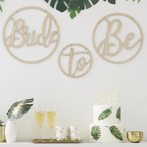 Wooden Bride to Be Decoration Hoops - Ginger Ray - Party Touches