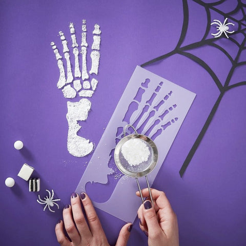 Skeleton Feet Stencils - Ginger Ray - Party Touches